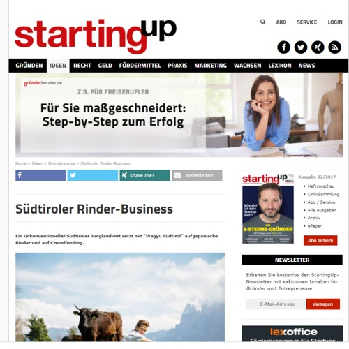 Starting up - Südtiroler Rinder-Business
